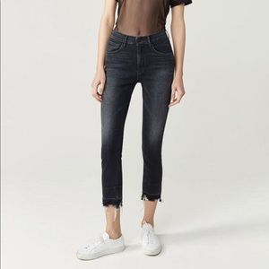 3X1 Shelter Straight Cropped Jeans Prism Raw Hem